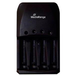 Plug-in charger 4 slots black